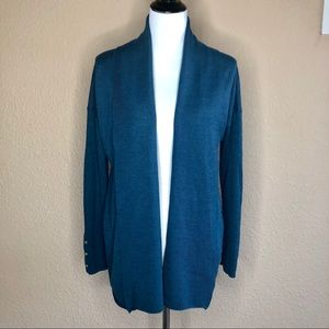 Tory Burch open front merino wool cardigan